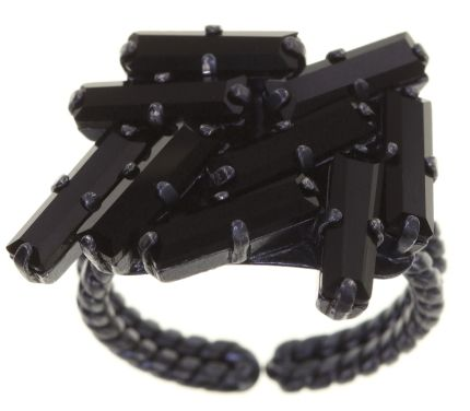 Konplott Jumping Baguette Ring Deepest Black 5450543861364