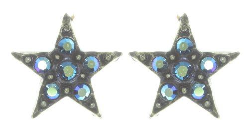 Konplott Dancing Star Ohrstecker in blau Größe XS 5450543774077