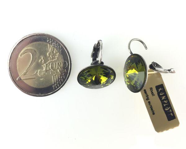 Konplott Rivoli olivine Ohrhänger mit Klappverschluss 5450527640817