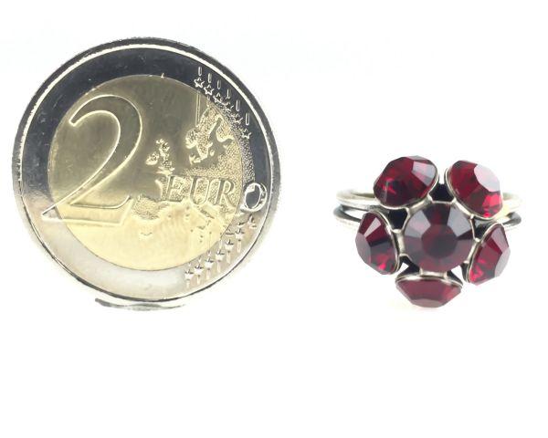 Konplott Disco Balls Ring in siam rot mit 1 Kugel 5450527610360