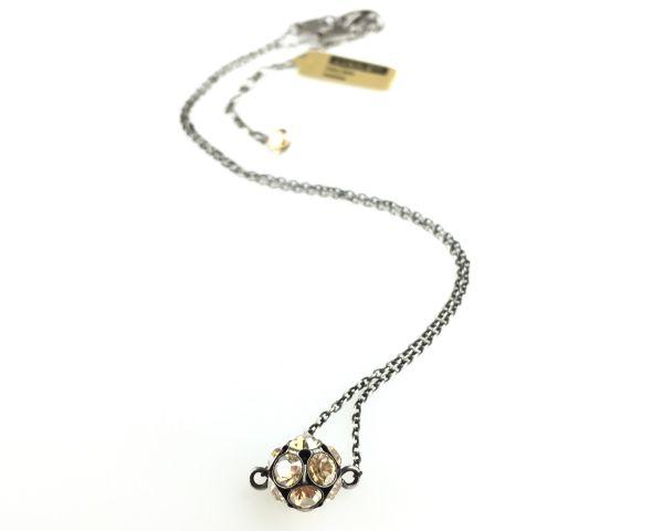 Konplott Disco Balls crystal golden shadow Halskette mit Anhänger M 5450527640688
