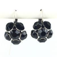 Konplott Disco Balls schwarze Ohrhänger mit Klappverschluss 5450527598569