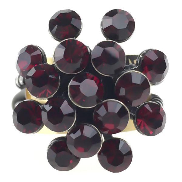 Konplott Magic Fireball 16 Stein Ring in siam, dunkelrot 5450527640473