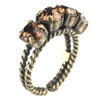 Konplott Colour Snake Ring in Smoked Topaz, braun 5450527256957