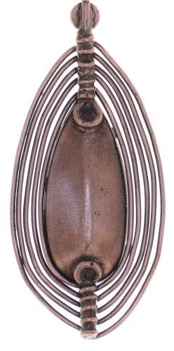 Konplott Amazonia lange Halskette mit Anhänger in rot, Größe M 5450543752815