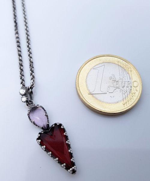 Konplott Snow White Halskette mit Anhänger in in rot Größe S 5450543757421