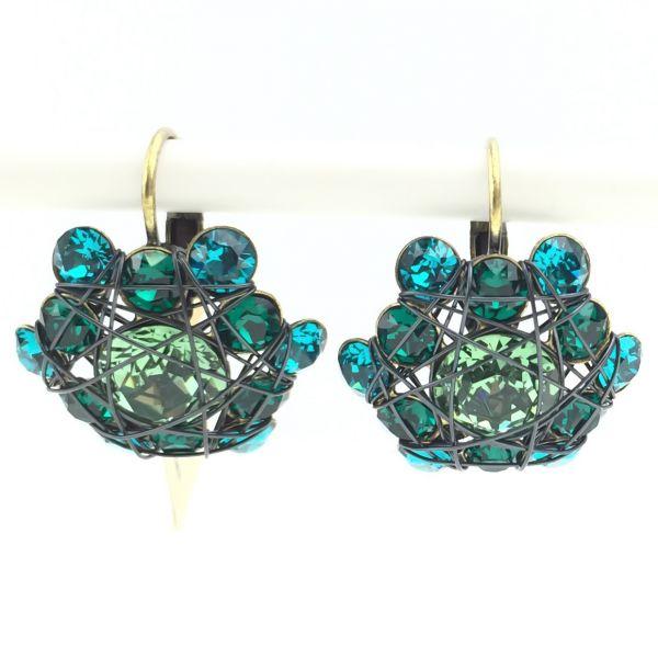 Konplott Bended Lights Ohrhänger mit Klappverschluss in Blau/ Grün 5450527759397