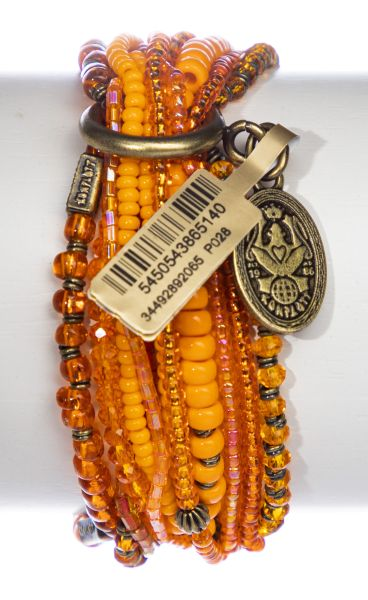 Konplott Petit Glamour d'Afrique Armband in orange antique 5450543865140