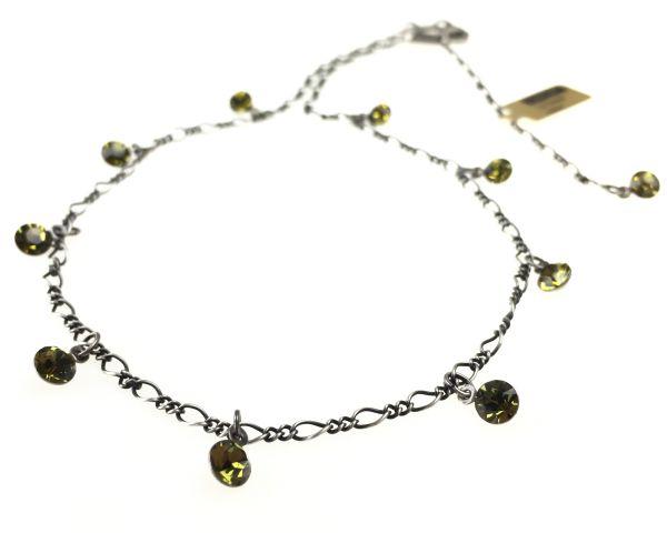 Konplott Tutui khaki Halskette steinbesetzt 5450527641159