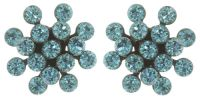 Vorschau: Konplott Magic Fireball Ohrstecker mini in blau türkis 5450543727417
