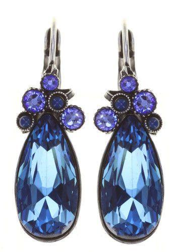 Konplott Alien Caviar Ohrring Blue Water in blau *Neu: Fassung aus Titan 5450543883779