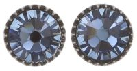 Konplott Black Jack Ohrstecker klassisch rund klein in denim blue 5450527885010