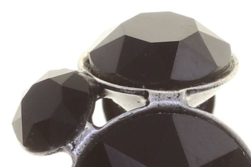Konplott Disco Star Ohrclip in pure black 5450543854755