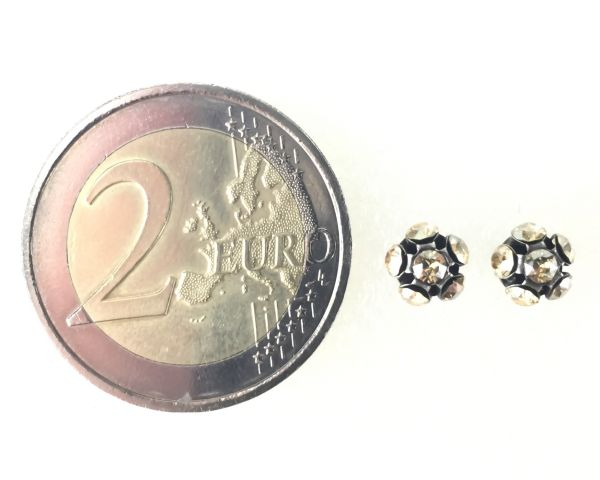 Konplott Disco Balls crystal golden shadow Ohrstecker klassisch 5450527640725