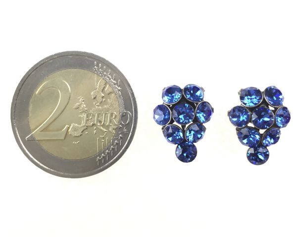 Konplott Magic Fireball Ohrstecker klassisch Traube in sapphire 5450527611756