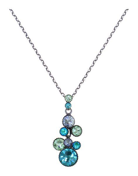 Konplott Water Cascade Halskette in Minty Fresh blau/grün 5450543907208