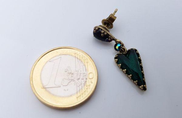 Konplott Snow White Ohrstecker in blau/grün Größe S 5450543758268