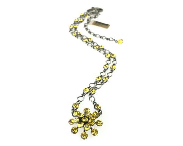 Konplott Magic Fireball Halskette steinbesetzt mit Anhänger in light topaz 5450527640596