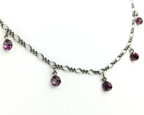 Konplott Tutui amethyst Halskette steinbesetzt, pink/lila 5450527641210
