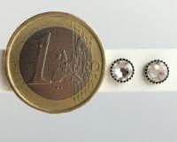 Vorschau: Konplott Black Jack Ohrstecker klassisch rund klein in white crystal 5450527601320