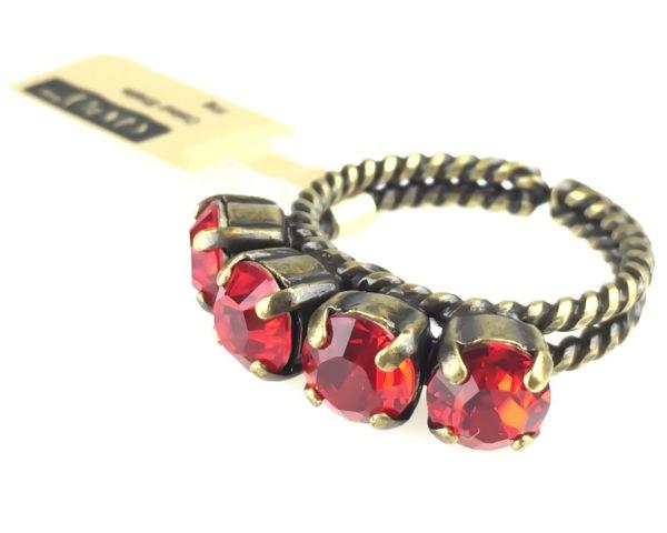 Konplott Colour Snake Ring in Light Siam, hellrot 5450527129121