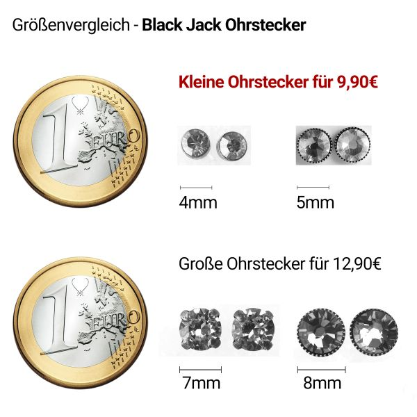 Konplott Black Jack Ohrstecker klein in Light Siam, hellrot 5450527259873