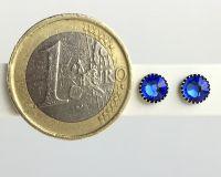 Vorschau: Konplott Black Jack Ohrstecker klassisch rund klein in blue sapphire 5450527601115