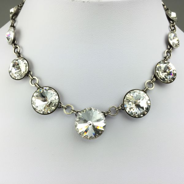 Konplott Rivoli crystal weiße Halskette steinbesetzt 5450527558105