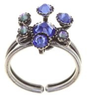 Alien Caviar Ring Blue Water in blau
