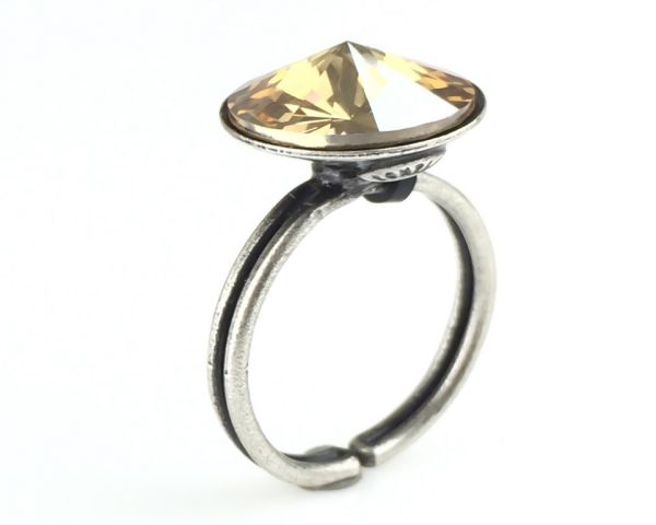 Rivoli crystal golden shadow Ring