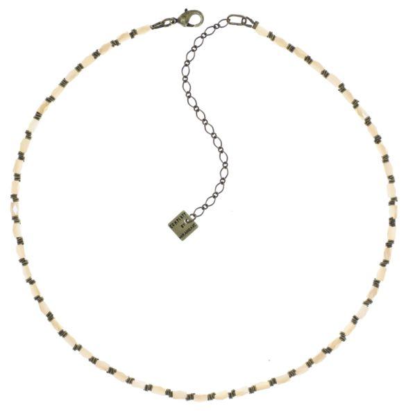Konplott Night Sun Halskette mit Perlenausschnitt in beige 5450543786469