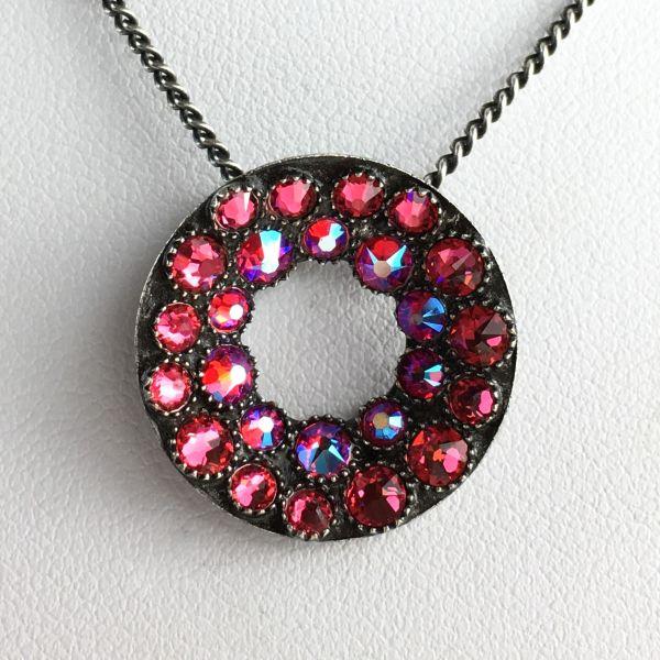 Konplott Inside Out pinke Halskette mit Anhänger 5450543641522