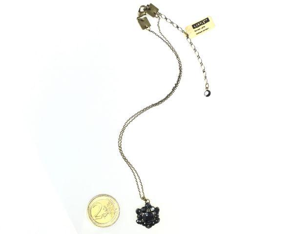 Konplott Bended Lights Halskette mit Anhänger in Schwarz 5450527758970