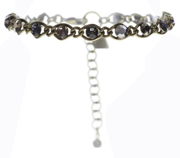 Konplott Magic Fireball Armband schwarz/ grau/ kristall 5450543685731