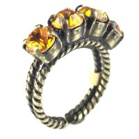 Konplott Colour Snake Ring in Topaz, gelb/braun 5450527122191