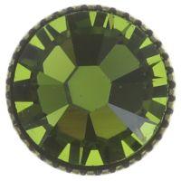 Vorschau: Konplott Black Jack Ohrstecker groß in oliv grün 5450527723053