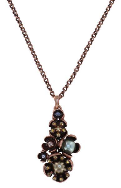 Konplott Halskette in grün/braun M - Where the Lilac Bloom 5450543884981