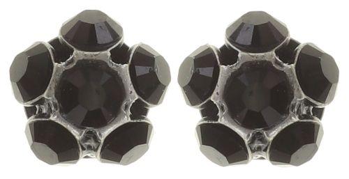 Disco Balls schwarze Ohrstecker klassisch