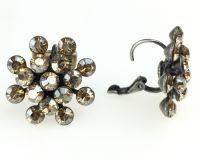 Vorschau: Konplott Magic Fireball Ohrhänger mit Klappverschluss in crystal golden shadow 5450527640060