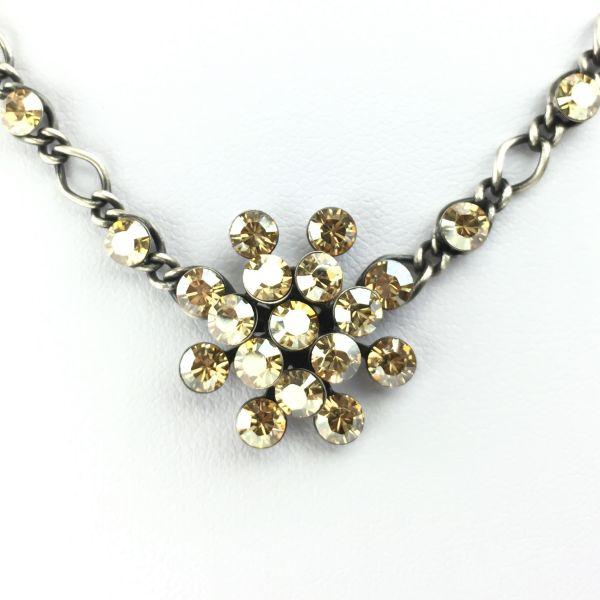 Magic Fireball Halskette steinbesetzt mit Anhänger in crystal golden shadow