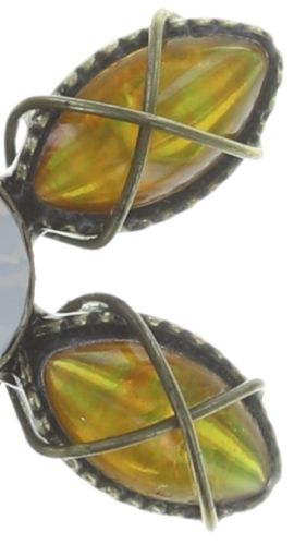Konplott Psychodahlia Ohrstecker in gelb Messing 5450543730493