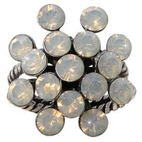 Vorschau: Konplott Magic Fireball 16 Stein Ring in light grey opal 5450527767415