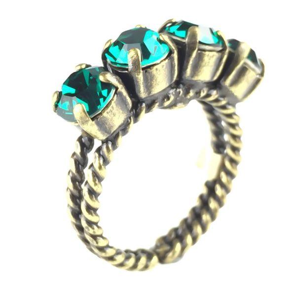 Colour Snake Ring in Emerald, dunkelgrün