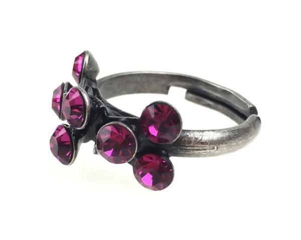 Konplott Magic Fireball 8 Stein Ring in fuchsia, pink 5450527611893
