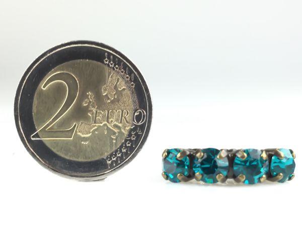 Konplott Colour Snake Ring in Blue Zircon, dunkeltürkis 5450527640916