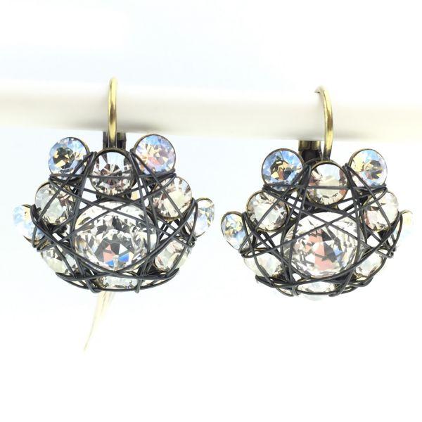 Konplott Bended Lights Ohrhänger mit Klappverschluss in Weiß 5450527759557