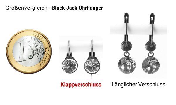 Konplott Black Jack Ohrhänger mit Klappverschluss in Sapphire 5450527130806