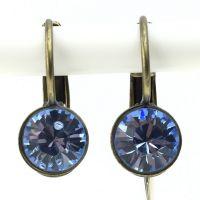 Konplott Black Jack Ohrhänger mit Klappverschluss in light sapphire, hellblau 5450527110358