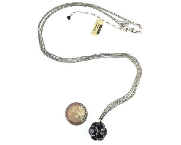 Konplott Disco Balls schwarze Halskette lang mit Anhänger L 5450527598514