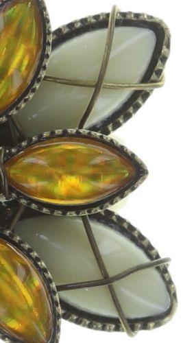 Konplott Psychodahlia Ring in gelb Messing 5450543734040